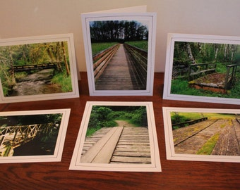 Woodland Bridges   Photo Greeting Cards (Set of 6)   Original Photography   Photo Note Cards