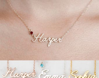 Custom name necklace etsy custom name necklace aloadofball Images