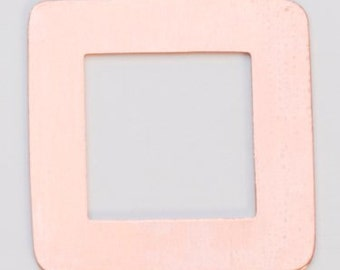 "Copper Square Washer 1-3/16"" Outside Diameter 11/16"" In Diameter 24 ga Package of 6"