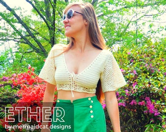 Crochet crop top pattern -Ether