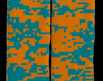 Camouflage Crew Socks - Camouflage Socks - Mens Clothing - Womens Clothing - Unique Socks - Novelty Socks - Crazy Socks - FREE Shipping F58