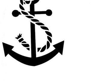 Rope and Anchor Reusable Stencil 7.5x6