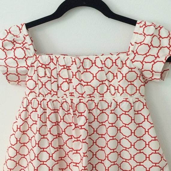 Girls Dress size 8 to 10 - Handmade Dress - Empire Waist Dress -Girls Gown - Flowergirl Dress - Jane Austen Dress - Wedding Party Dress