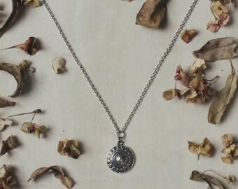 Mandala necklace, boho necklace, hippie necklace, girlfriend gift, bohemian necklace, silver necklace, bohemian jewelry, boho jewelry