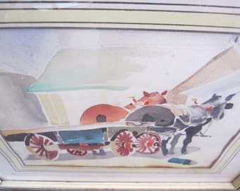 1930s Signed Watercolor Painting