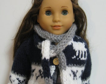 American Girl Doll Clothes -Benetton Sweater and Scarf