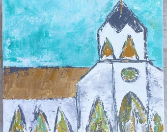 Little White Chapel on Gallery Wrapped Canvas