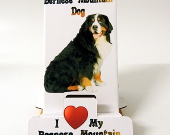 Bernese Mountain Dog Desktop Mobile Phone Holder