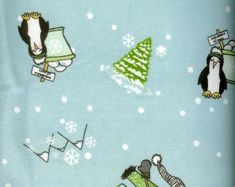 Snowball Fun cozy FLANNEL, sold by the yard  #237