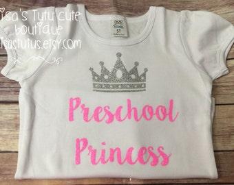 Preschool shirt, first day of preschool, first day of school, back to school shirt, preschool princess shirt, toddler school shirt