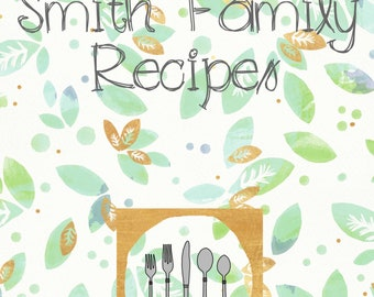 Springtime Recipe Binder Cover and Recipe Cards