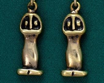 Columbia River Gorge, Mushroom People- Bronze- Earrings