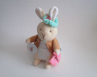"Beatrix Potter Eden My First Benjamin Bunny 9"" Plush Stuffed Animal Nursery Toy Vintage 1980's"