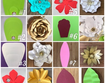 Giant paper flower etsy giant paper flower templates step by step paper flower tutorial included mightylinksfo