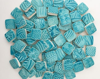 TURQUOISE SQUARE Mosaic Tiles