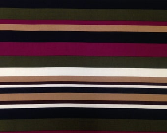 Retro Fall Bayadere Stripes Pattern on Stretch Lightweight ITY Knit Jersey Polyester Spandex Fabric - By the Yard or Bulk