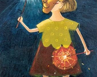 Sparklers, Print - Sarah Stone Art
