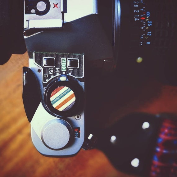 Shutter Release Button recycled skateboard Camera Mechanical analog