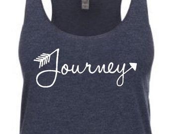 Yoga tank - Journey. Fitness tank. Fitness shirt. Yoga shirt. Workout tank. Boho tank. Tribal arrow shirt.