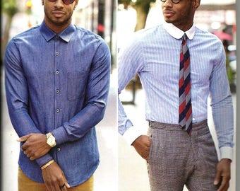 Simplicity 8427 new uncut size 34 - 42 mens dress shirt