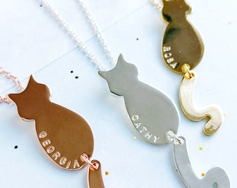 Personalised Cat Necklace