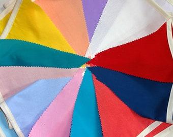 Wedding banner, Long wedding bunting, Multicoloured bunting, Outdoor bunting, Long banner, flags, Garden party bunting, Hochzeitsdekoration