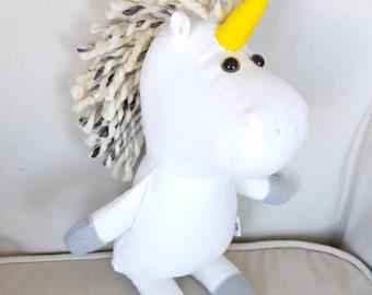 MINI unicorn plush/gender neutral/plushie/gift