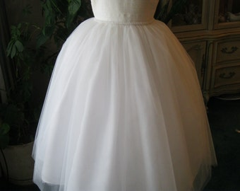 Diamond White Flower Girl Dress