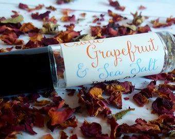 Perfume Oil, Roll On Perfume Oil | Exotic Grapefruit & Sea Salt | Fresh Perfume, Natural Perfume Oil, Grapefruit Perfume, Tropical Perfume