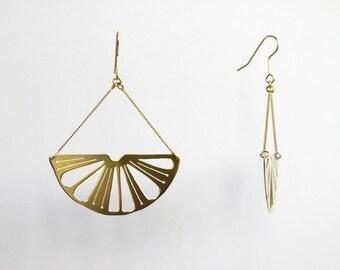 "Earrings ""Citron"" lemons gilded with gold 24 carat"
