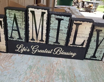 Family Life's Greatest Blessing Wood Block Sets