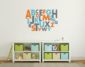 Alphabet letters, Wall letters, Alphabet wall decals, Large wall letters for nursery, Vinyl letter stickers, Wall decals for kids DB177