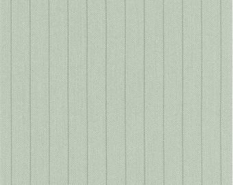 Mint Green Herringbone Suiting, Fabric By The Yard