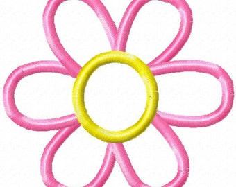 Pixie Six Flower - Applique - Machine Embroidery Design -  13 Sizes