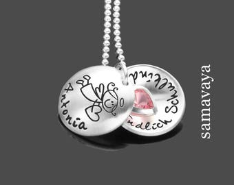 School finally SCHOOLCHILD 925 Silver necklace with engraving baptism