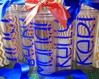 Personalized Tumbler, Wedding Party, Party Favors, Bridesmaid gift, Custom Tumbler, Tumbler, Monogrammed cup, Bride to be,Bachelorette party