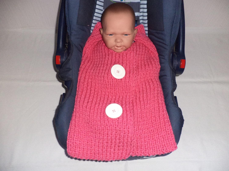 gestrickte Babydecke Einschlagdecke Babyschale Decke