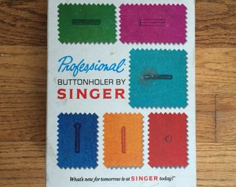 Singer Professional Buttonholer For Slant Needle Zig Zag Sewing Machines 102880