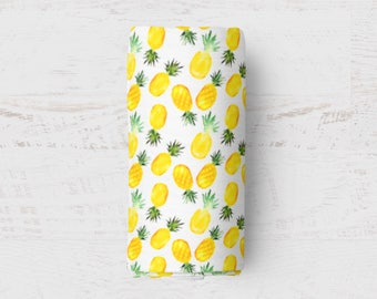 Pineapple Swaddle Blanket Gender Neutral Baby Gift Baby Muslin Swaddle Muslin Wrap Blanket Baby Swaddle Bassinet Cover Birth Announcement
