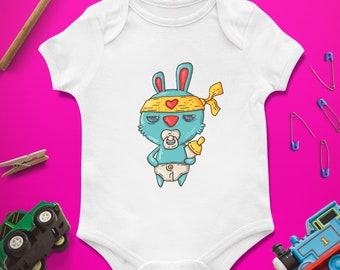 Rabbit / Baby Infant Newborn / Bodysuit Onesie / Baby shower First 1st birthday / Present Gift / Clothing Clothes / Boy Girl / Personalized