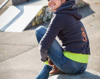 Women sweater made in France Crop Circles Yin Yang customizable