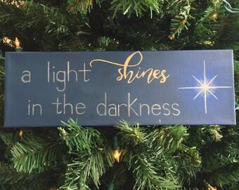 a light shines