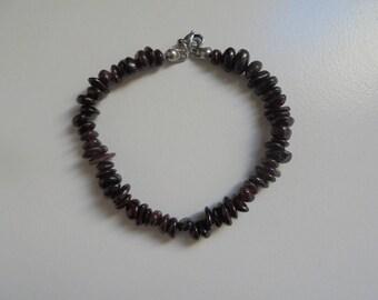 Garnet gemstones Beads Bracelet