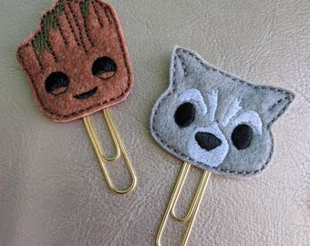 Baby tree or baby galaxy raccoon planner paper clip bookmark