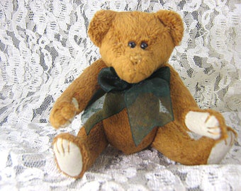 Vintage Jointed Brown Teddy Bear / Hump Back Bear / Stuffed Bear / Vintage Child's Toy