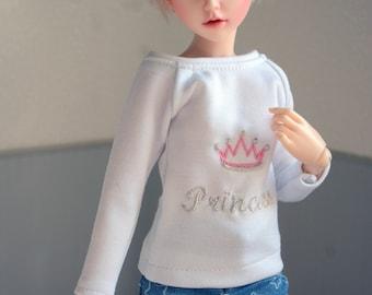 Embroidered crown 'Princess' shirt minifee