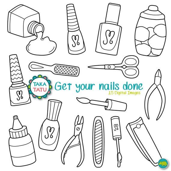 Nail Polish Clipart Instructions – Papillon Day Spa