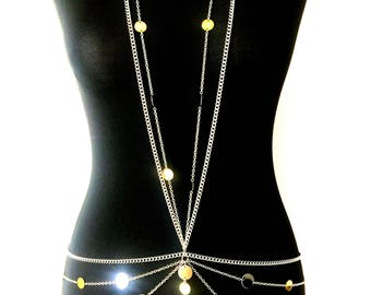 LUXXE Light Reflecting Gold/Silver Body Chain
