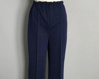 Vintage Navy Blue Polyester Pants