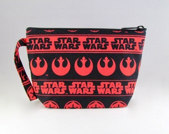 Red Star Wars Makeup Bag - Accessory - Cosmetic Bag - Pouch - Toiletry Bag - Gift